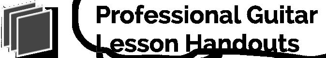 Professional Guitar Lesson Handouts
